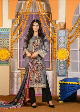 Zohan Textile Embroidered Lawn Unstitched 3 Piece Suit VOG19L 9 - Eid Collection