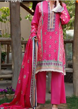VS Textiles Printed Lawn Unstitched 3 Piece Suit VS20CL 108B - Summer Collection