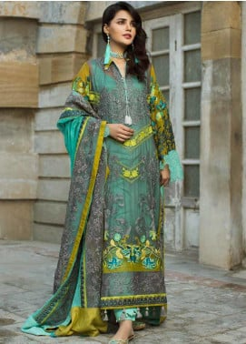 Wajid Khan by Rub Nawaz Embroidered Chiffon Unstitched 3 Piece Suit RN20WK 01 - Luxury Collection