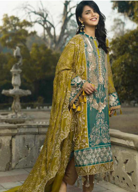 Wajid Khan by Rub Nawaz Embroidered Chiffon Unstitched 3 Piece Suit RN20WK 02 - Luxury Collection