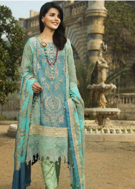 Wajid Khan by Rub Nawaz Embroidered Chiffon Unstitched 3 Piece Suit RN20WK 04 - Luxury Collection