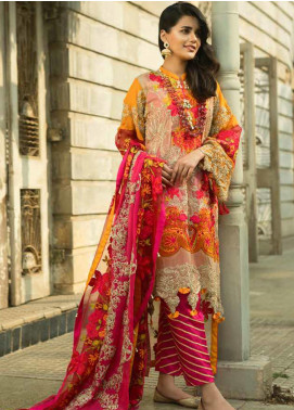 Wajid Khan by Rub Nawaz Embroidered Chiffon Unstitched 3 Piece Suit RN20WK 05 - Luxury Collection