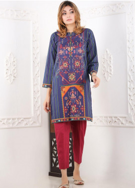 Waniya Printed Lawn Stitched 2 Piece Suit WN20S 03 KINGRIS AND TASSELS