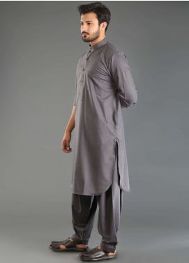Sanaulla Exclusive Range Wash N Wear Formal Men Kameez Shalwar - Grey SKS18W 02