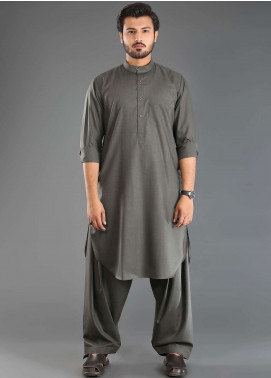 Sanaulla Exclusive Range Wash N Wear Formal Men Kameez Shalwar - Grey SKS18W 04