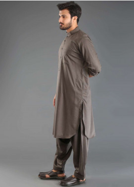 Sanaulla Exclusive Range Wash N Wear Formal Kameez Shalwar for Men - Brown SKS18W 05