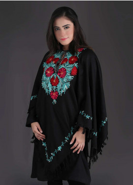 Sanaulla Exclusive Range Embroidered Pashmina Free Size Ponchos 03 - Winter Collection