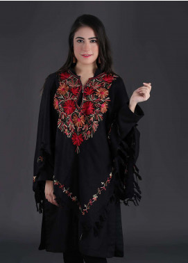 Sanaulla Exclusive Range Embroidered Pashmina Free Size Ponchos 04 - Winter Collection