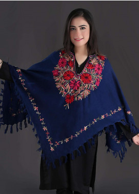 Sanaulla Exclusive Range Embroidered Pashmina Free Size Ponchos 06 - Winter Collection