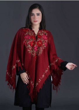 Sanaulla Exclusive Range Embroidered Pashmina Free Size Ponchos 07 - Winter Collection