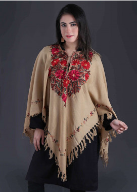 Sanaulla Exclusive Range Embroidered Pashmina Free Size Ponchos 09 - Winter Collection