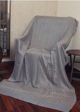 Sanaulla Exclusive Range  Jamawar Tissue Shawl 19-AKP-293 Grey - Winter Collection