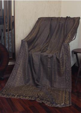 Sanaulla Exclusive Range  Jamawar Tissue Shawl 19-MIR-173 Grey - Winter Collection