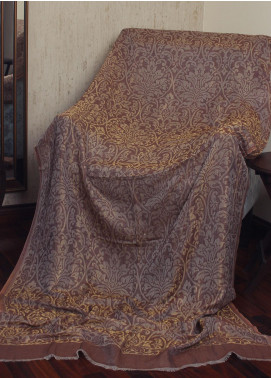 Sanaulla Exclusive Range  Jamawar Tissue Shawl 19-MIR-176 Brown - Winter Collection