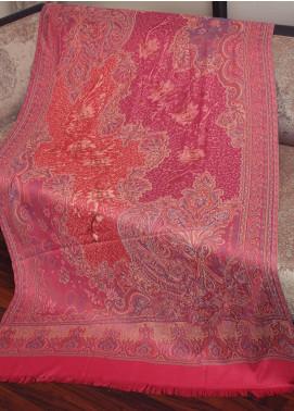 Sanaulla Exclusive Range  Jamawar Weaved Shawl 19-MIR-268 Dark Pink - Winter Collection