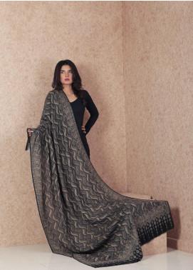 Sanaulla Exclusive Range  Jamawar Weaved Shawl AKP-167 Grey - Winter Collection