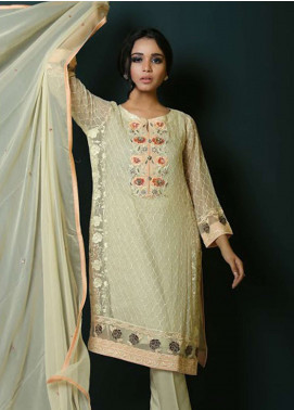 Asma Emran Embroidered Chiffon Stitched 3 Piece Suit EP-008 Archaic Rosewood