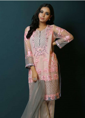 Asma Emran Embroidered Zari Net Stitched 3 Piece Suit EP-009 Ethereal Flowerbomb