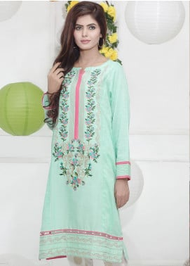 Festive Embroidered Lawn Stitched Kurtis F19SE138 Green