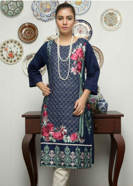 Festive Embroidered Lawn Stitched Kurtis F19SE142 Navy
