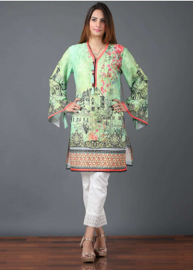 Pearl Closet Embroidered Cotton Stitched Kurtis Dreamy life BK001 Green