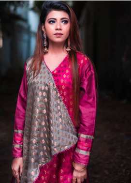 Laali Embroidered Jamawar Stitched 2 Piece Suit Lal-027