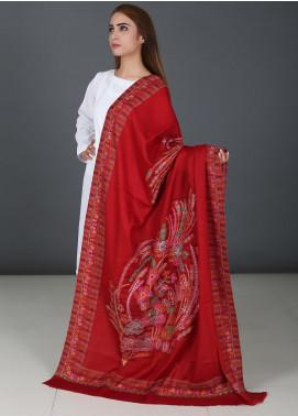 Sanaulla Exclusive Range  Pashmina Embroidered Shawls 725 - Kashmiri Shawls