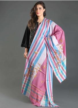Sanaulla Exclusive Range Embroidered Pashmina  Shawl 131 - Kashmiri Shawls