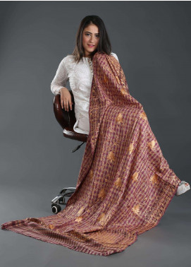 Sanaulla Exclusive Range Embroidered Pashmina  Shawl 160 - Kashmiri Shawls