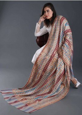 Sanaulla Exclusive Range Embroidered Pashmina  Shawl 161 - Kashmiri Shawls