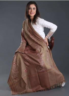 Sanaulla Exclusive Range Embroidered Pashmina  Shawl 165 - Kashmiri Shawls
