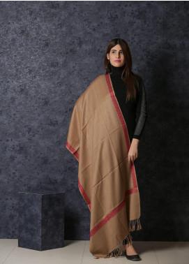 Sanaulla Exclusive Range Embroidered Pashmina  Shawl 19-20- MIR-30 Brown - Kashmiri Shawls