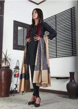 Sanaulla Exclusive Range Embroidered Pashmina  Shawl 19-AKP-57 Light Beige - Kashmiri Shawls