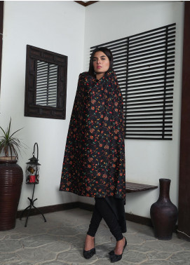 Sanaulla Exclusive Range Embroidered Pashmina  Shawl 19-AKP-60 Dark Black - Kashmiri Shawls