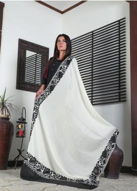Sanaulla Exclusive Range Embroidered Pashmina  Shawl 19-AKP-84 Black - Kashmiri Shawls