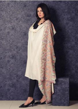 Sanaulla Exclusive Range Embroidered Pashmina  Shawl 19-AKP-96 Beige - Kashmiri Shawls