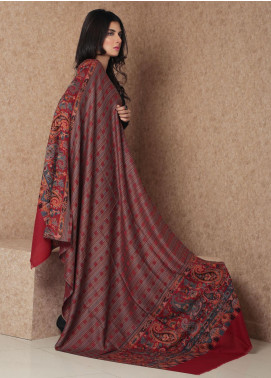 Sanaulla Exclusive Range Embroidered Pashmina  Shawl 19-MIR-169 Multi - Kashmiri Shawls