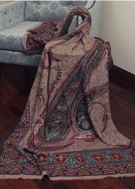 Sanaulla Exclusive Range Resham Embroidered Pashmina  Shawl 19-MIR-293 Mutli - Kashmiri Shawls