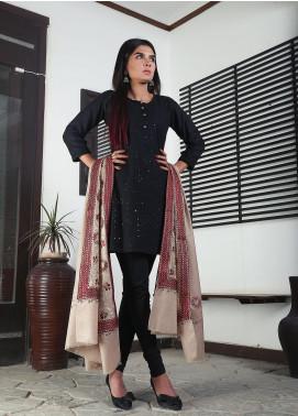 Sanaulla Exclusive Range Embroidered Pashmina  Shawl 19-MIR-383 Brown - Kashmiri Shawls