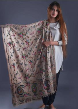 Sanaulla Exclusive Range  Pashmina Embroidered Shawl 329 - Kashmiri Shawls