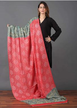 Sanaulla Exclusive Range  Pashmina Embroidered Shawl 611 - Kashmiri Shawls