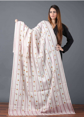 Sanaulla Exclusive Range  Pashmina Embroidered Shawl 613 - Kashmiri Shawls