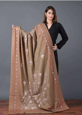 Sanaulla Exclusive Range  Pashmina Embroidered Shawl 630 - Kashmiri Shawls