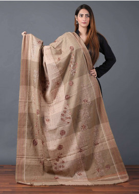 Sanaulla Exclusive Range  Pashmina Embroidered Shawl 631 - Kashmiri Shawls