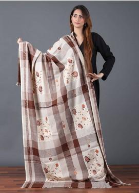 Sanaulla Exclusive Range  Pashmina Embroidered Shawl 634 - Kashmiri Shawls