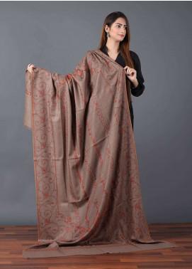 Sanaulla Exclusive Range  Pashmina Embroidered Shawl 635 - Kashmiri Shawls