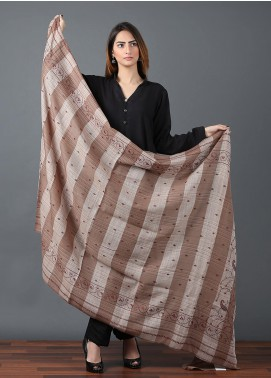 Sanaulla Exclusive Range  Pashmina Embroidered Shawl 640 - Kashmiri Shawls