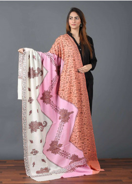 Sanaulla Exclusive Range  Pashmina Embroidered Shawl 642 - Kashmiri Shawls
