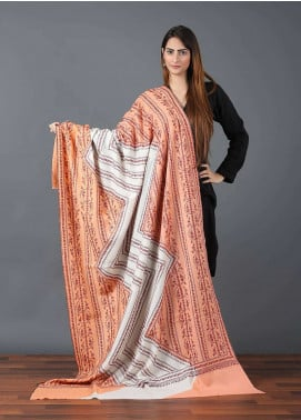 Sanaulla Exclusive Range  Pashmina Embroidered Shawl 644 - Kashmiri Shawls