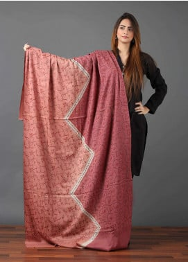 Sanaulla Exclusive Range  Pashmina Embroidered Shawl 648 - Kashmiri Shawls